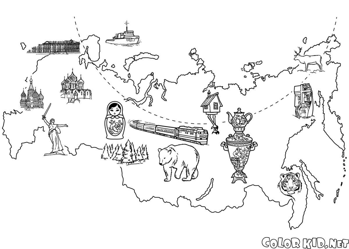 地圖俄羅斯