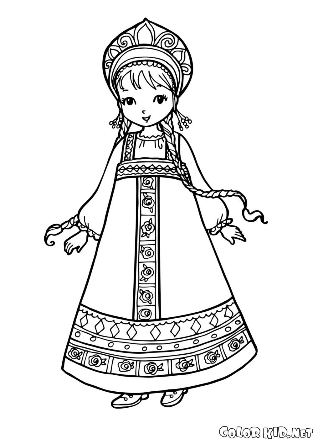 女孩的民族服裝