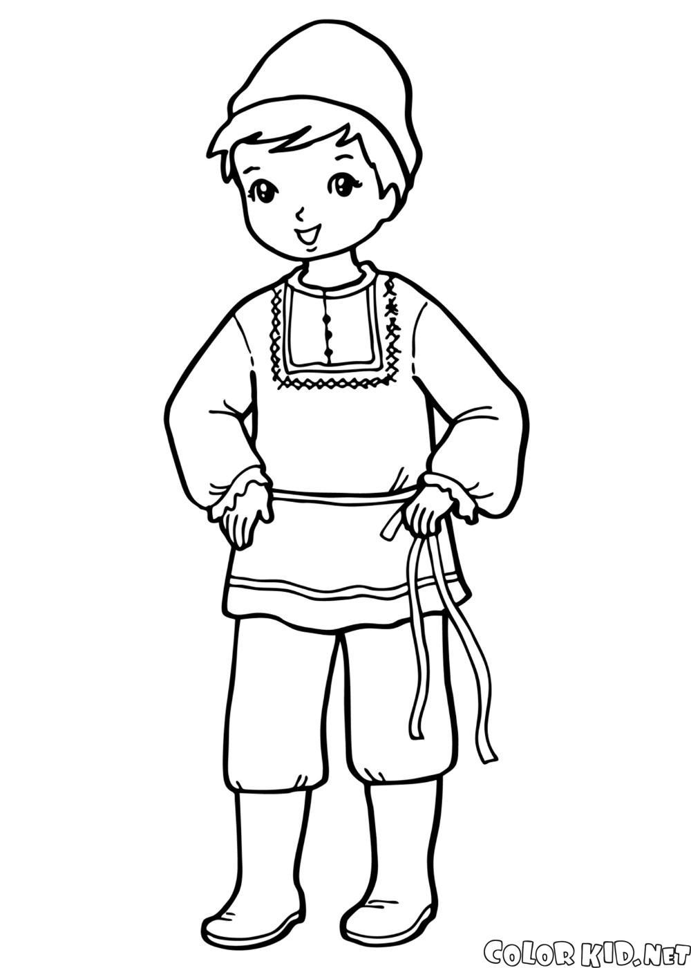 民族服裝的男孩