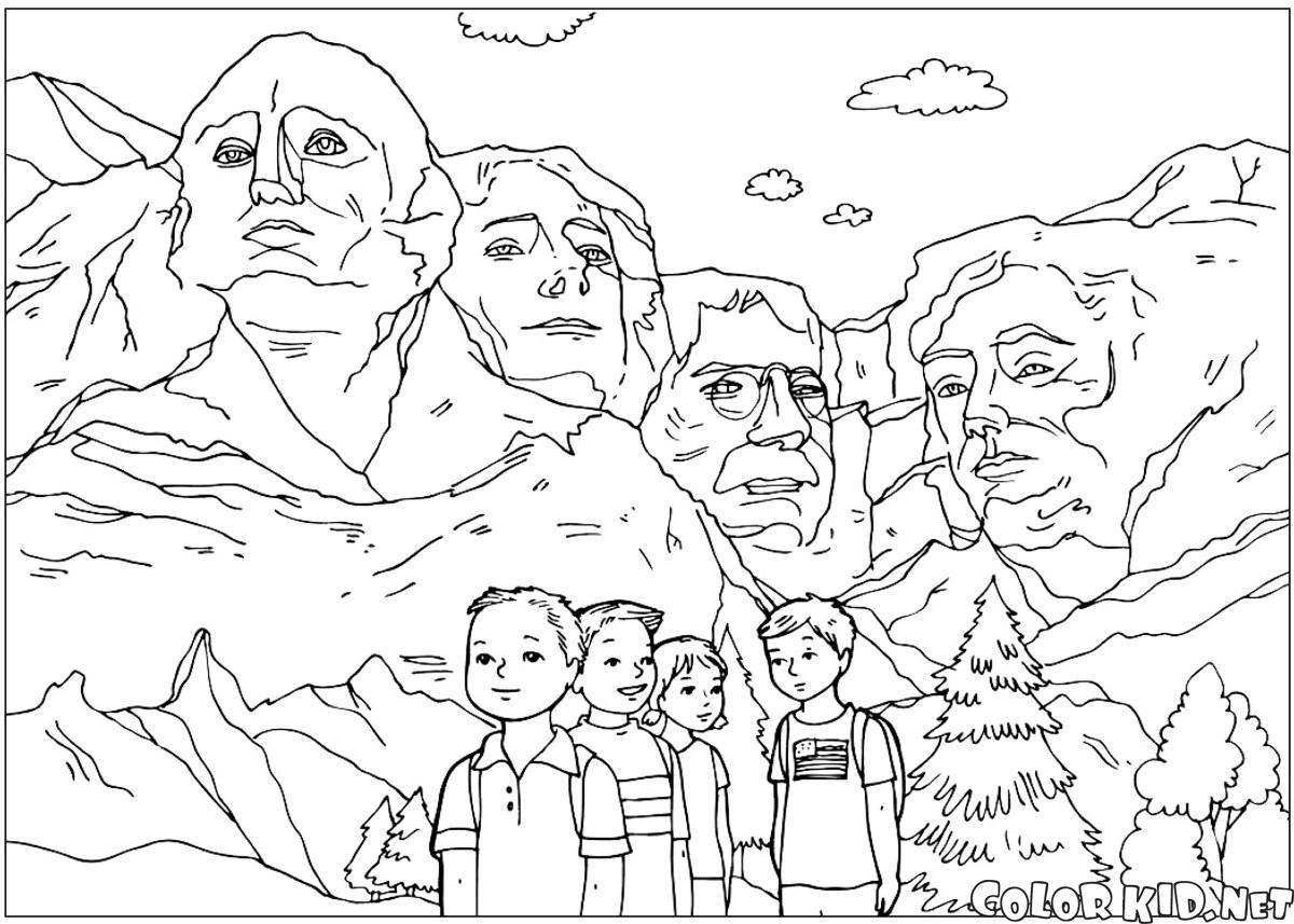 拉什莫爾山的雕塑