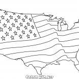 美國國旗地圖