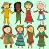 穿著傳統服裝的兒童